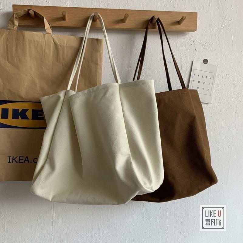 トートバッグ バッグ エコバッグ レジバッグ キャンバス 大きい 大きめ 大容量