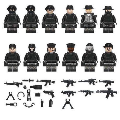 SWAT ミリタリー ミニフィグ 12体+武器 レゴ互換 警察特殊部隊 LEGO互換 アーミー サバゲー 送料無料 _画像3
