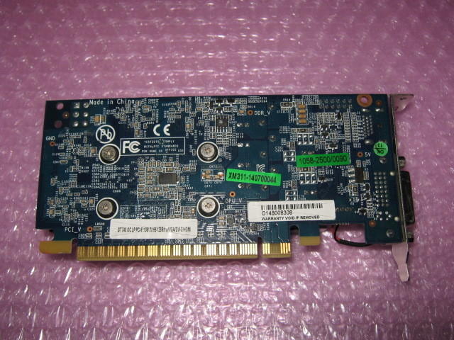 玄人志向 GF-GT740-LE1GHD/OC (GeForce GT740) 1G GDDR5 ★ロープロファイル専用★_画像2