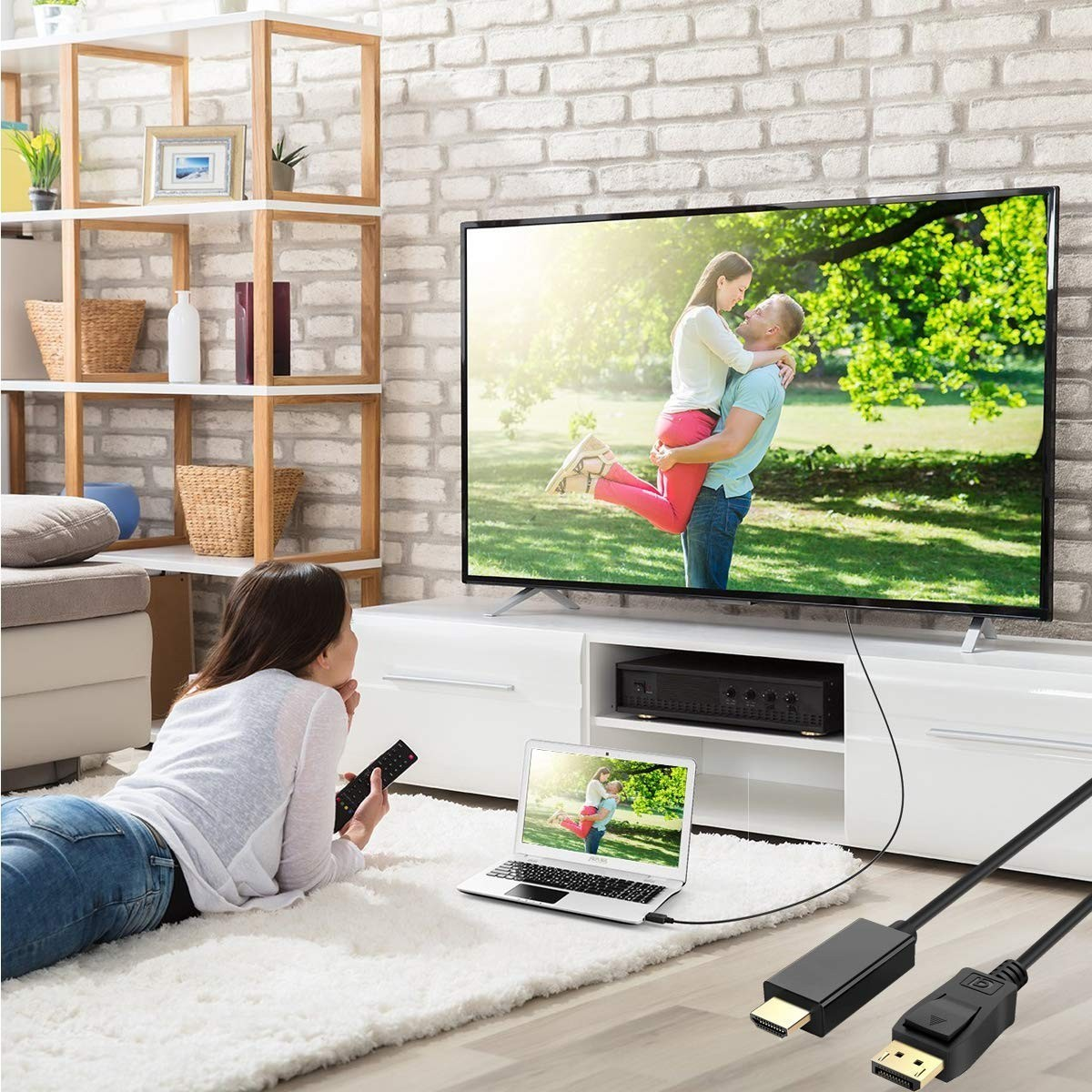 AQ変換 ケーブルDisplayPort-HDMI 4K解像度対応 アダプタ