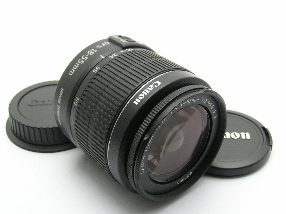 ★ハローカメラ★7038 CANON ZOOM LENS EF-S ( 18-55mm F3.5-5.6 IS Ⅱ) 美品 動作品  現状  1円スタ-ト