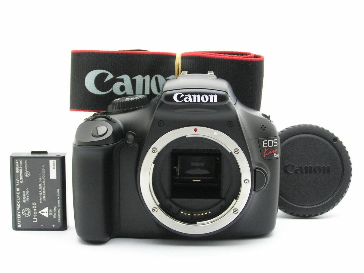 ★ハローカメラ★7149 Canon EOS Kiss X50 【本体とバッテリのみ】 動作品  現状  1円スタ-ト 綺麗