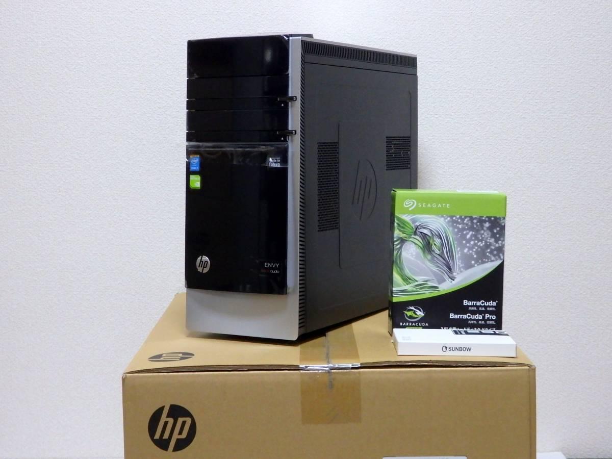 【未使用品】ハイスペ☆高速Core i7-4790 4GHz×8/新品SSD1TB+HDD2TB/16GBメモリ/Win10/GeForce GTX 980/USB3.0/Office2019/ENVY 700-570jp_core i7+RAM16GB+SSD1TB+HDD2TBのハイスペ