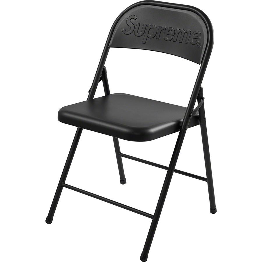 即決 送料無料 Supreme Metal Folding Chair BLACK 20FW 20AW WEEK2 シュプリーム メタル チェア ブラック 黒 折り畳みイス 椅子【新品】_画像1