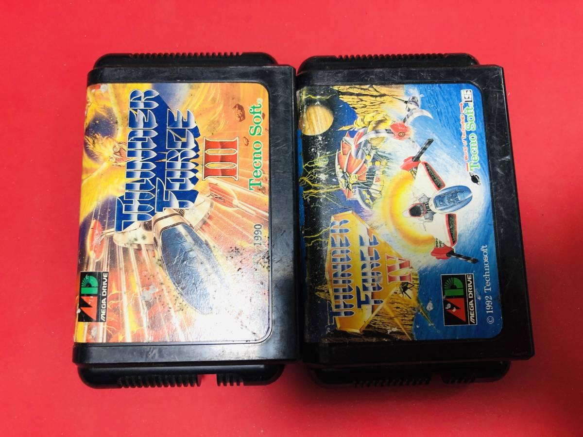 サンダーフォース Ⅲ Ⅳ 3 4 メガドライブ セット 同梱可!!即決!!大量出品中!_画像1