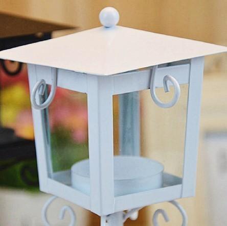 鉄 ガラス キャンドル ホルダー クラシック ブラック ホワイト ティー ライトスタンド ホーム テーブル ランタン 装飾_画像5