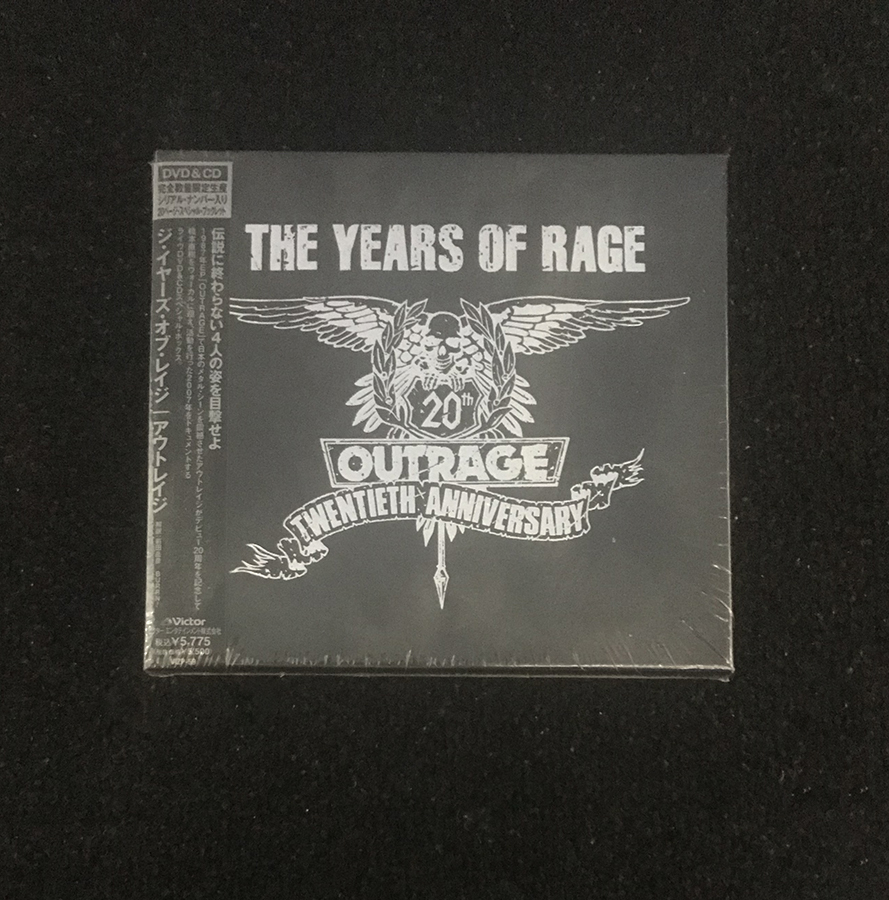 OUTRAGE THE YEARS OF RAGE CD & DVD 未使用 未開封
