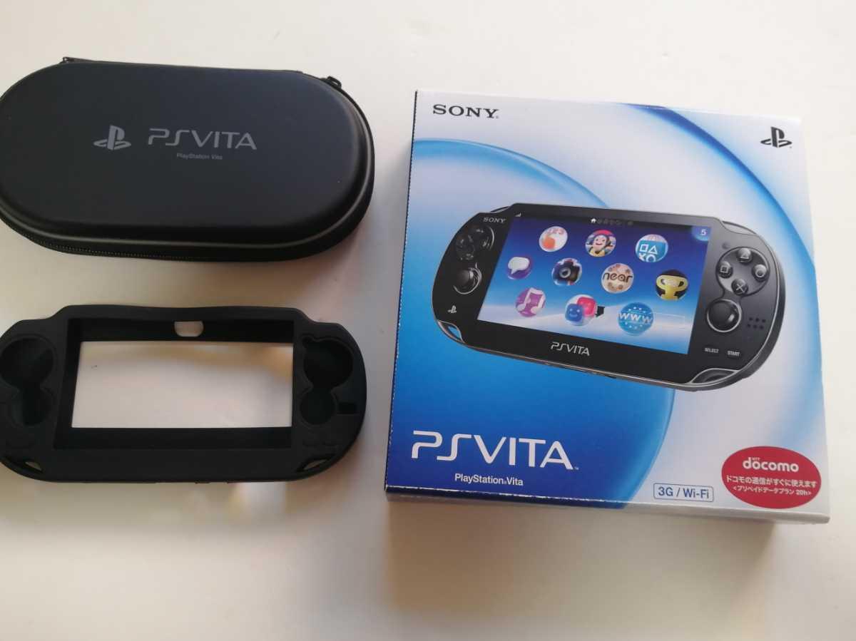 即日発送 psvita1000黒 SONY ブラック 充電器、トラベルポーチ付きソニー PlayStation Vita 極美品