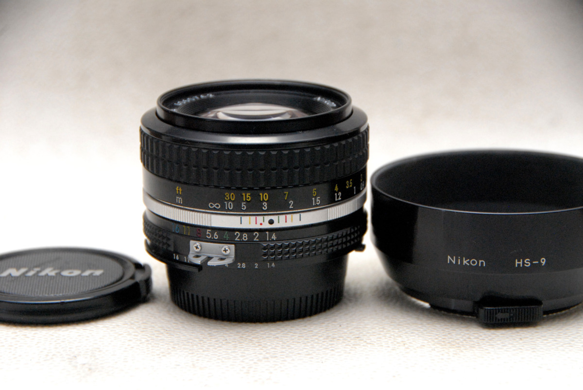 Nikon ニコン 純正 NIKKOR MF 50mm 高級単焦点レンズ 1:1.4 (Ai) 作動品