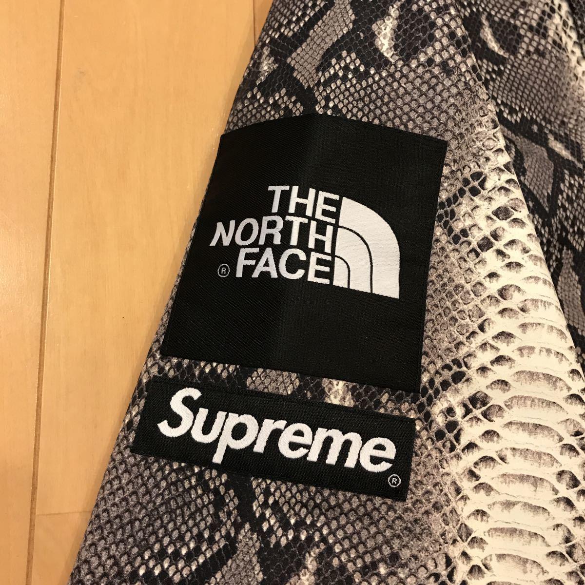 新品未使用Supreme×THE NORTH FACE Snakeskin Taped Seam Coaches Jacket M 黒 シュプリームノースフェイス パッカブルジャケット_画像5