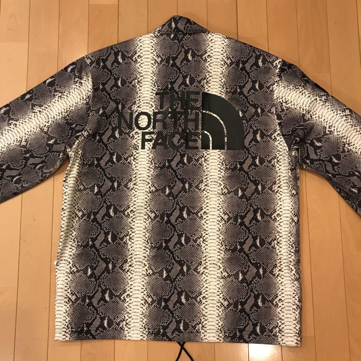 新品未使用Supreme×THE NORTH FACE Snakeskin Taped Seam Coaches Jacket M 黒 シュプリームノースフェイス パッカブルジャケット_画像7