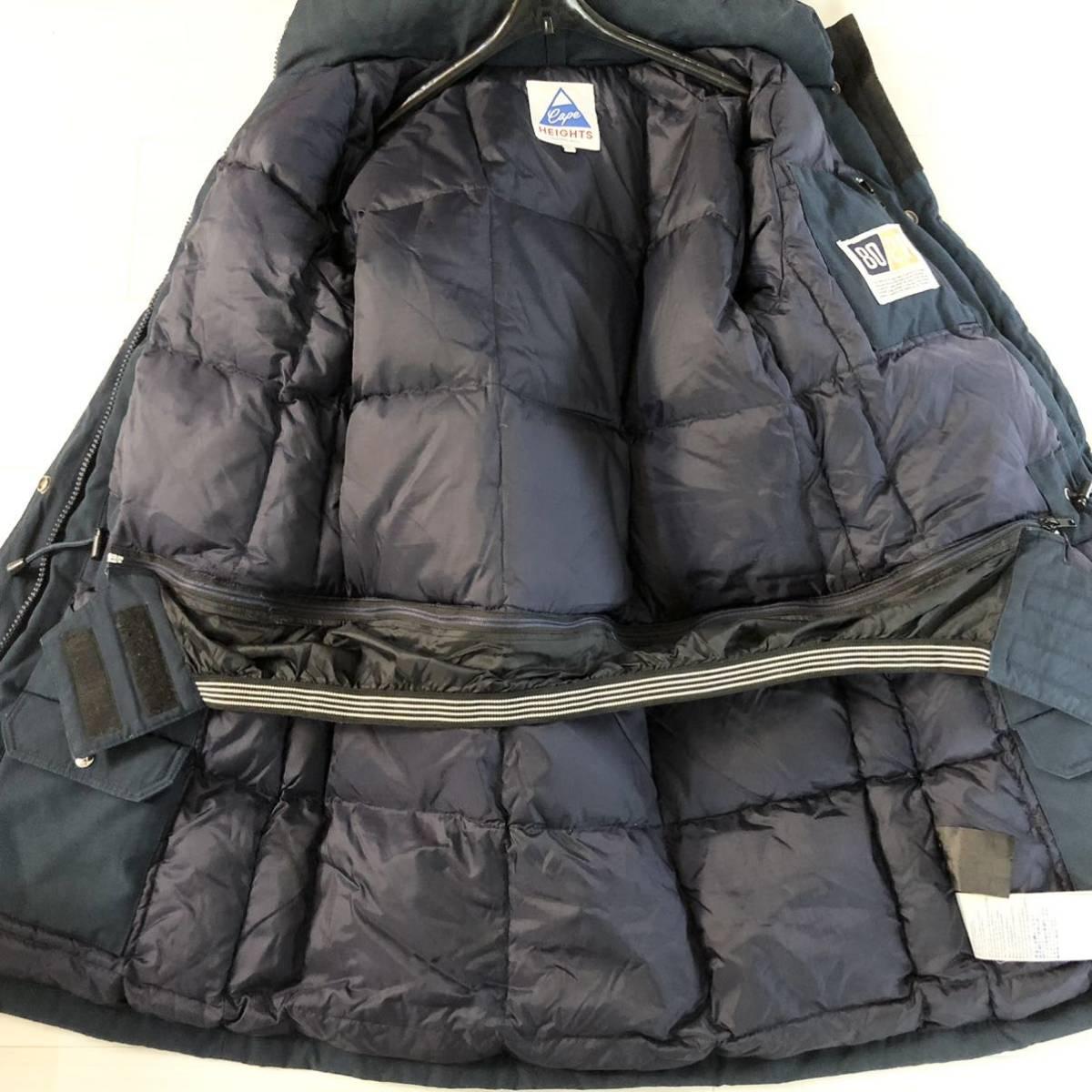 Cape Heights■ケープハイツ■BRIGHTWOOD Mountain Jacket■S ネイビー ダウンジャケット ダウンコート リアルファー