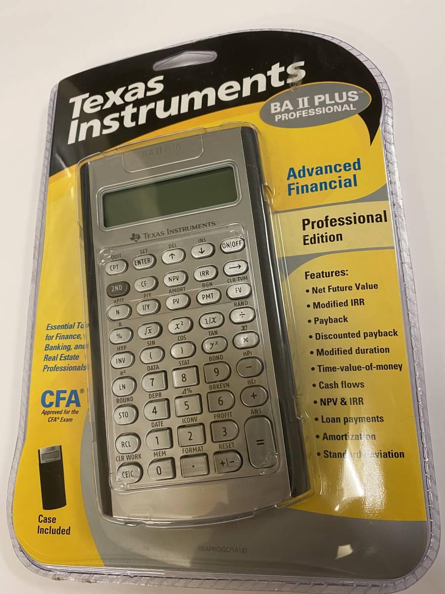 Texas Instruments  テキサス ンスツルメンツ BA II Plus PROFESSIONAL_画像1