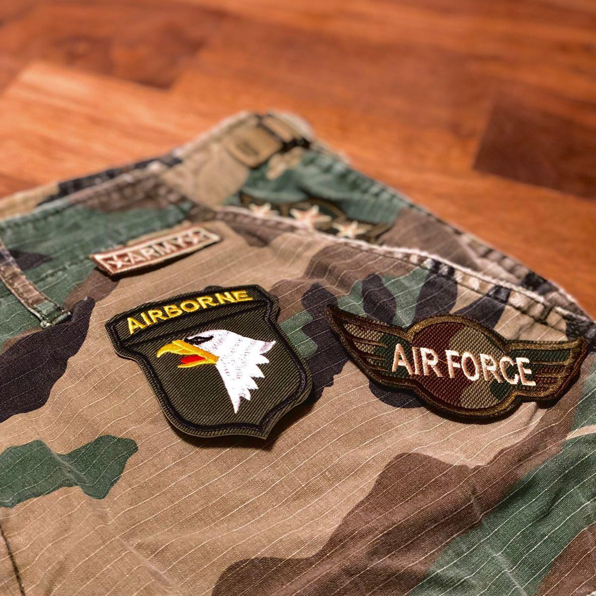 【アイロンワッペン】アーミーシリーズ ミリタリー 8点セット 航空自衛隊