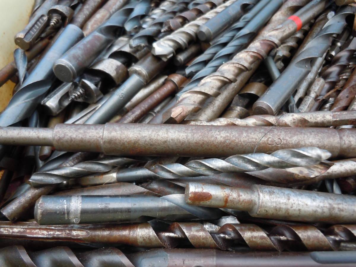 電動工具用【ドリル ビット】(drill bit)穴あけ歯物・木工用・鉄鋼用・約20kg・中古品(約400本)/最大長34Cm「BOSCH SDS」⑭72~最小9Cm_画像3