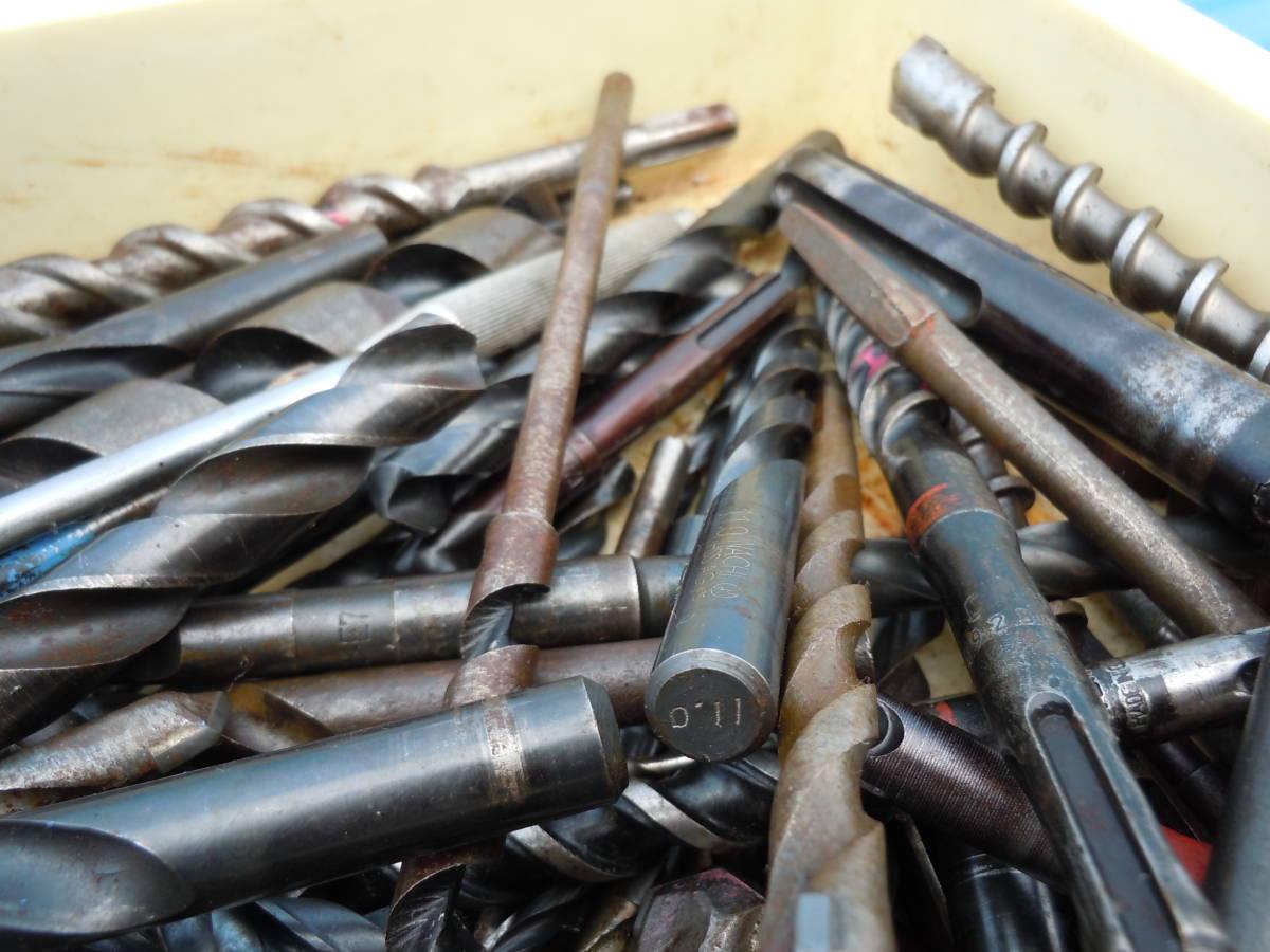 電動工具用【ドリル ビット】(drill bit)穴あけ歯物・木工用・鉄鋼用・約20kg・中古品(約400本)/最大長34Cm「BOSCH SDS」⑭72~最小9Cm_画像6