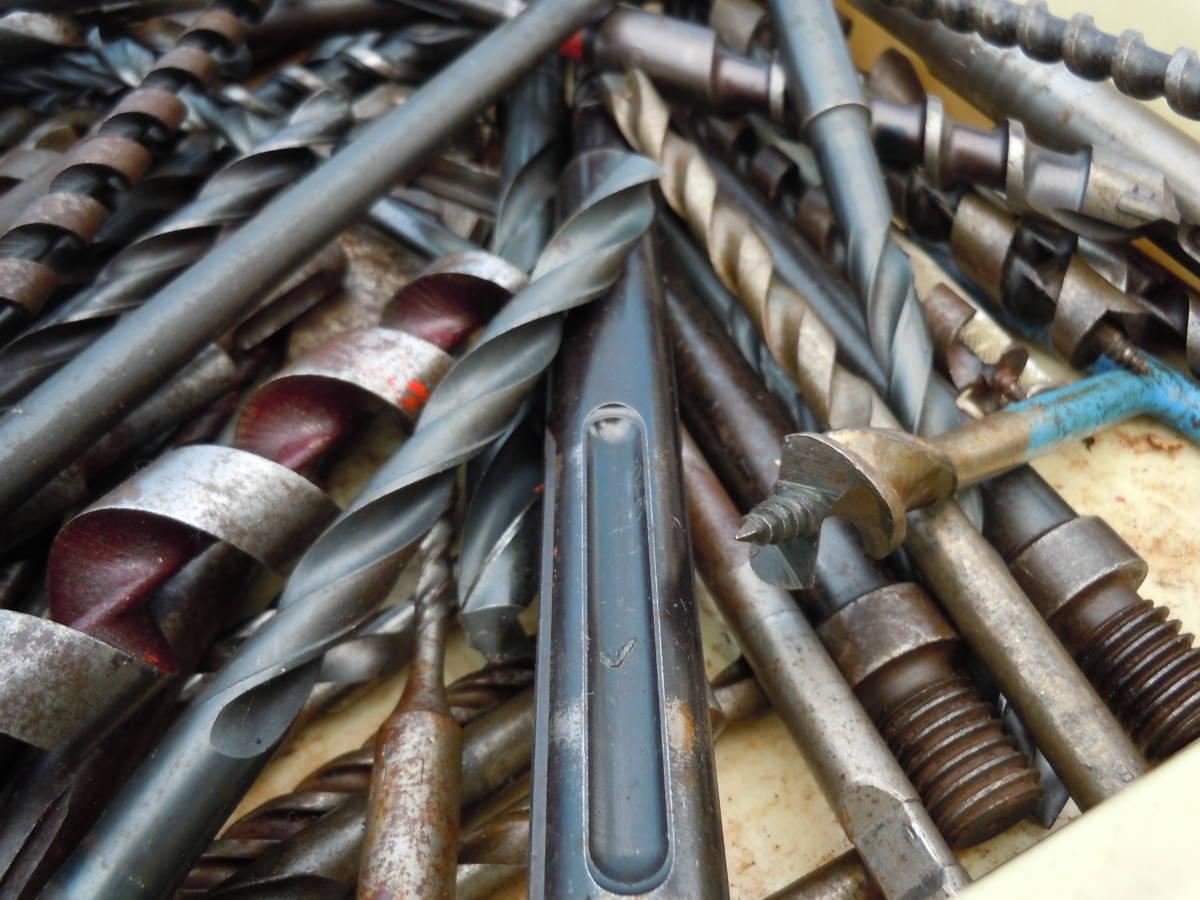 電動工具用【ドリル ビット】(drill bit)穴あけ歯物・木工用・鉄鋼用・約20kg・中古品(約400本)/最大長34Cm「BOSCH SDS」⑭72~最小9Cm_画像7