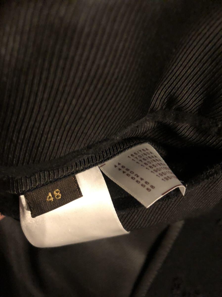 LOUIS VUITTON ルイヴィトン モノグラム総柄 テーラードジャケット 48 コットン ブラック 黒 超希少 定価60万円 高級品_画像5