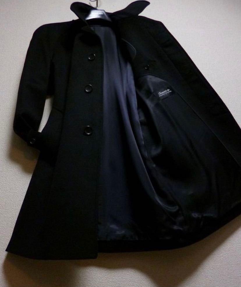 極美品 18万! 圧倒的☆PIERRE BALMAIN☆完全最高級ピュアカシミヤ100%コート! 圧倒的高級感! 超極上! 圧倒的美しさ! 別格段違い バルマン_画像1