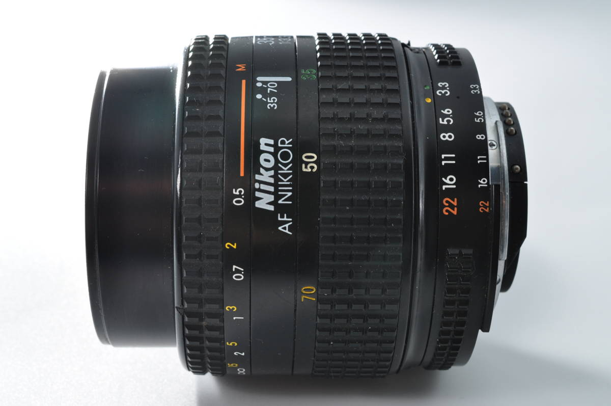 売切り NIKON ニコン AF NIKKOR 35-70mm F/3.3-4.5 オートフォーカス 一眼レフ レンズ ジャンク扱い_画像3