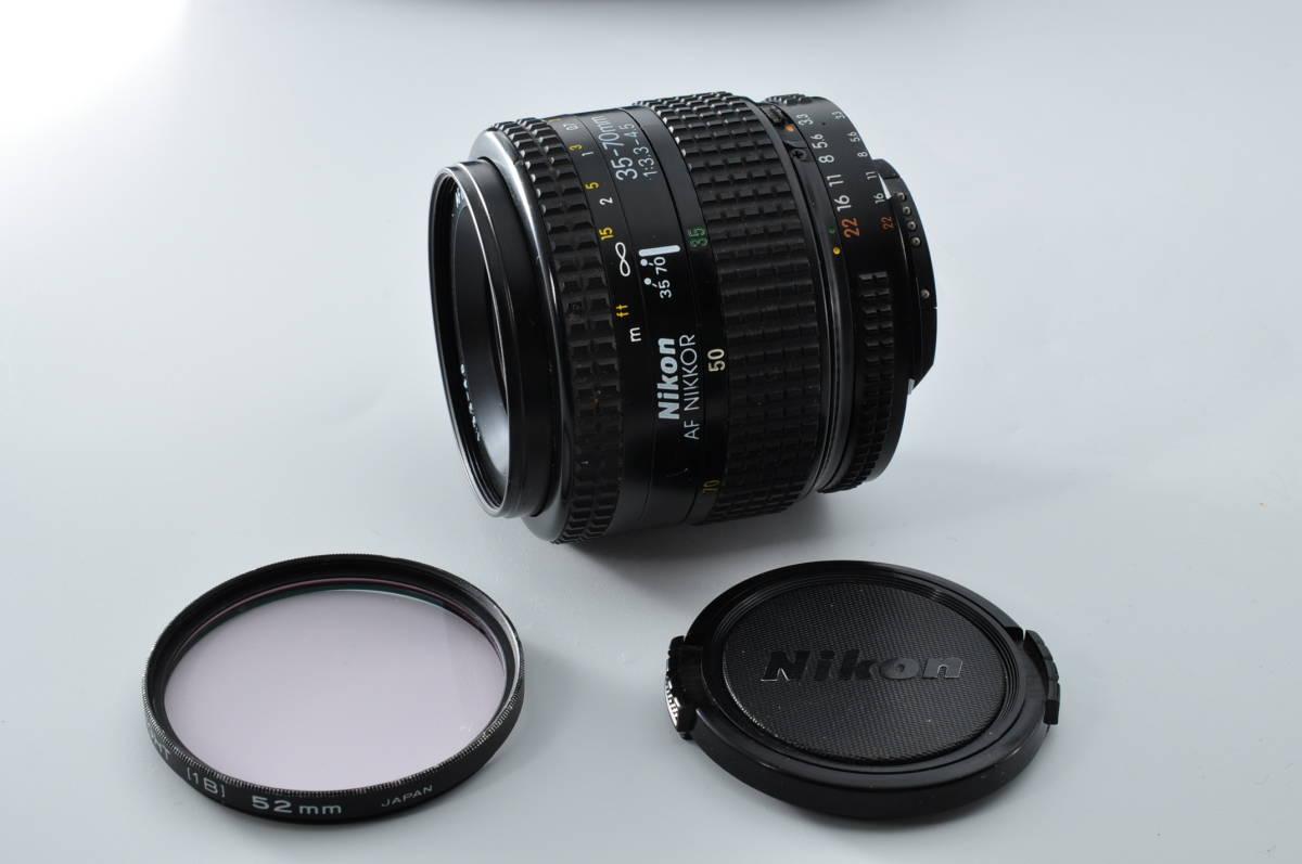 売切り NIKON ニコン AF NIKKOR 35-70mm F/3.3-4.5 オートフォーカス 一眼レフ レンズ ジャンク扱い_画像8