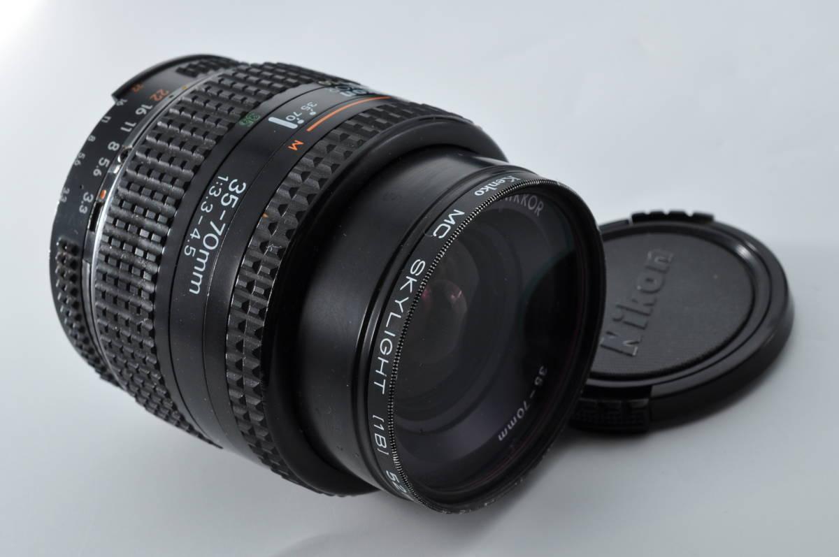 売切り NIKON ニコン AF NIKKOR 35-70mm F/3.3-4.5 オートフォーカス 一眼レフ レンズ ジャンク扱い_画像9