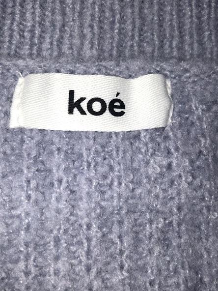 ◆◇◆koe/コエ◆◇◆ふんわり柔らか♪サイドスリットハイネックセーター♪サイズフリー◆◇◆美品_画像2
