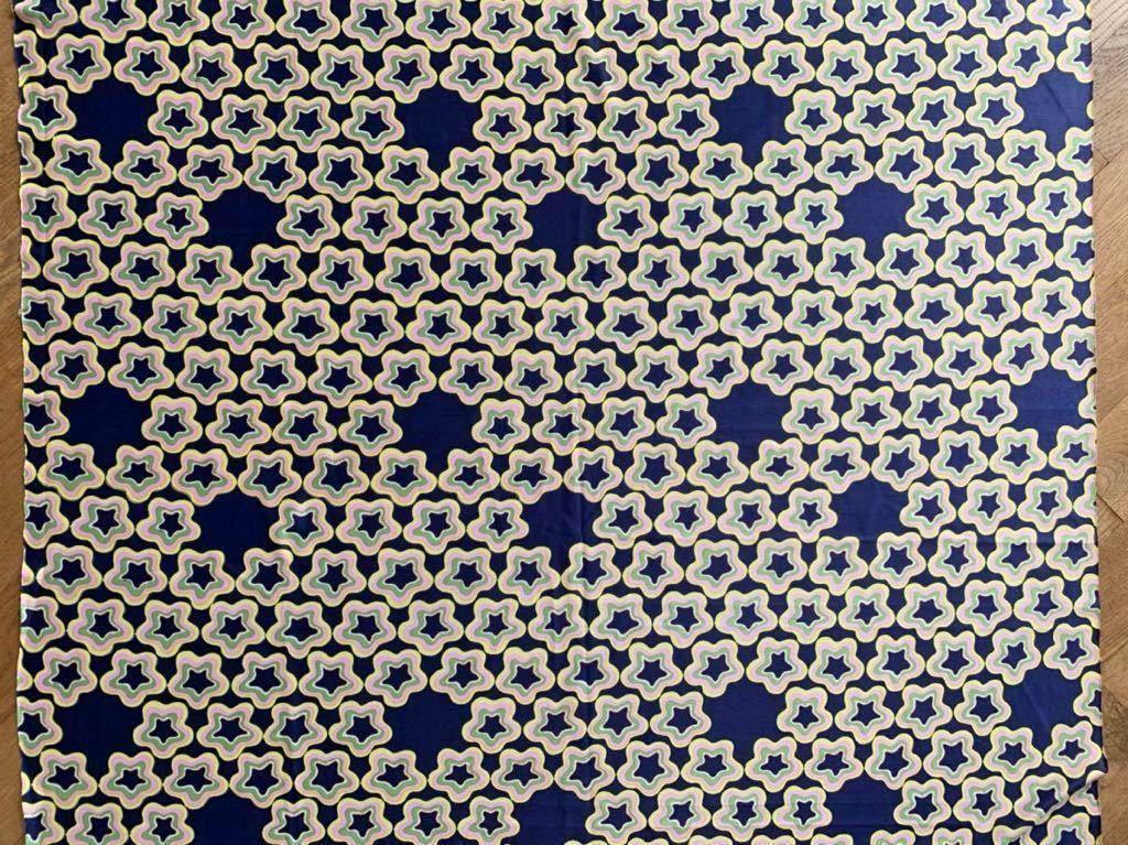 はぎれ 89×99 星柄 デッドストック生地 リメイク コレクター ハンドメイド 手作り 布 昭和レトロ 化繊 スター ノスタルジック ファンシー