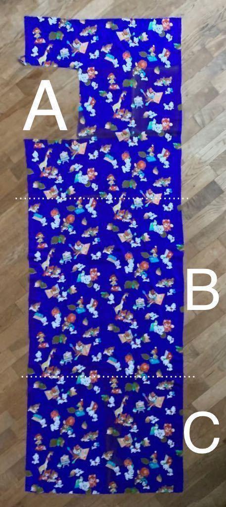 メリンス モスリン 動物柄 昭和レトロ アンティーク ヴィンテージ 生地 コレクター ハンドメイド ファンシー ノスタルジック 古布 着物 布c