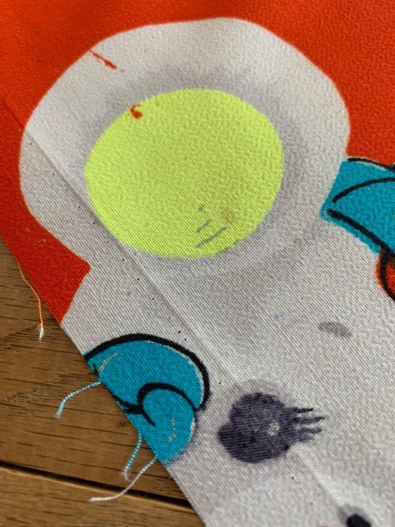 メリンス モスリン 古布 着物 大正浪漫 柄 昭和レトロ アンティーク 生地 コレクター ハンドメイド 布 ファンシー ノスタルジック 動物柄 c