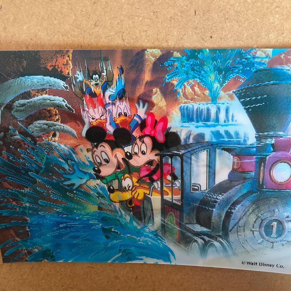 値下げ!レア!東京ディズニーランド Tokyo Disneyland 3Dポストカード 葉書、ハガキ 未使用品 ミッキー&ミニー 送料120円_画像1