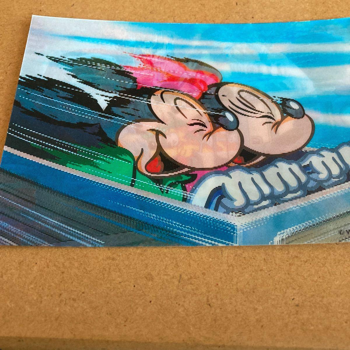 値下げ!レア!東京ディズニーランド Tokyo Disneyland 3Dポストカード 葉書、ハガキ 未使用品 ミッキー&ミニー 送料120円_画像3