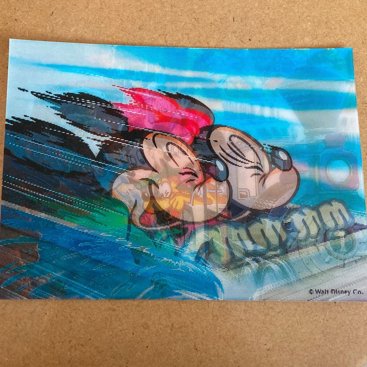 値下げ!レア!東京ディズニーランド Tokyo Disneyland 3Dポストカード 葉書、ハガキ 未使用品 ミッキー&ミニー 送料120円_画像2