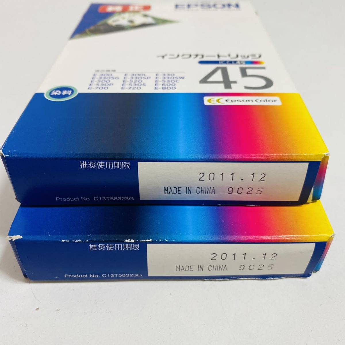 【未開封品】EPSON エプソン 純正インクカートリッジ ICCL45 期限切れ 2個セット_画像2