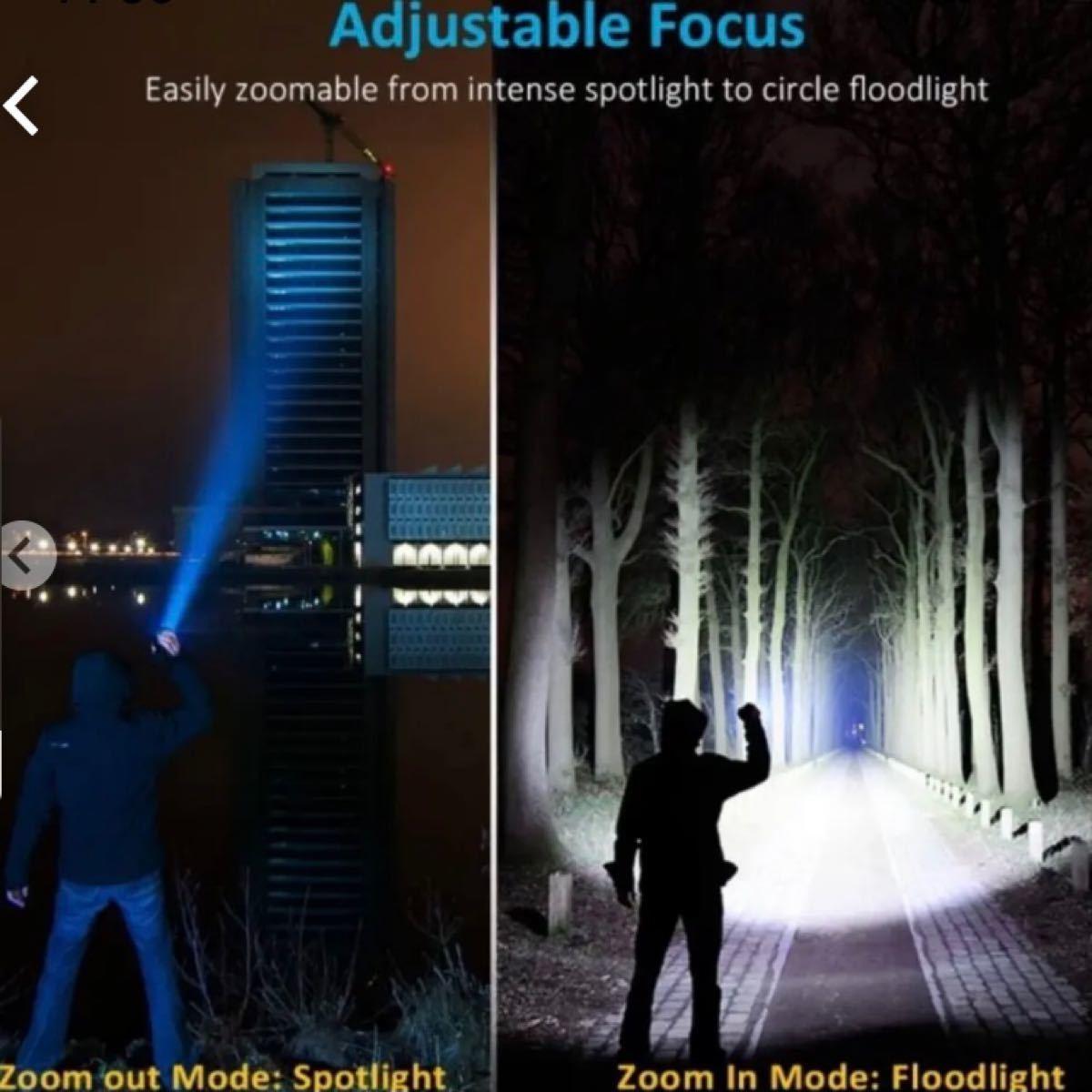 【充電式】  懐中電灯  led  地震対策 アウトドア LEDライト