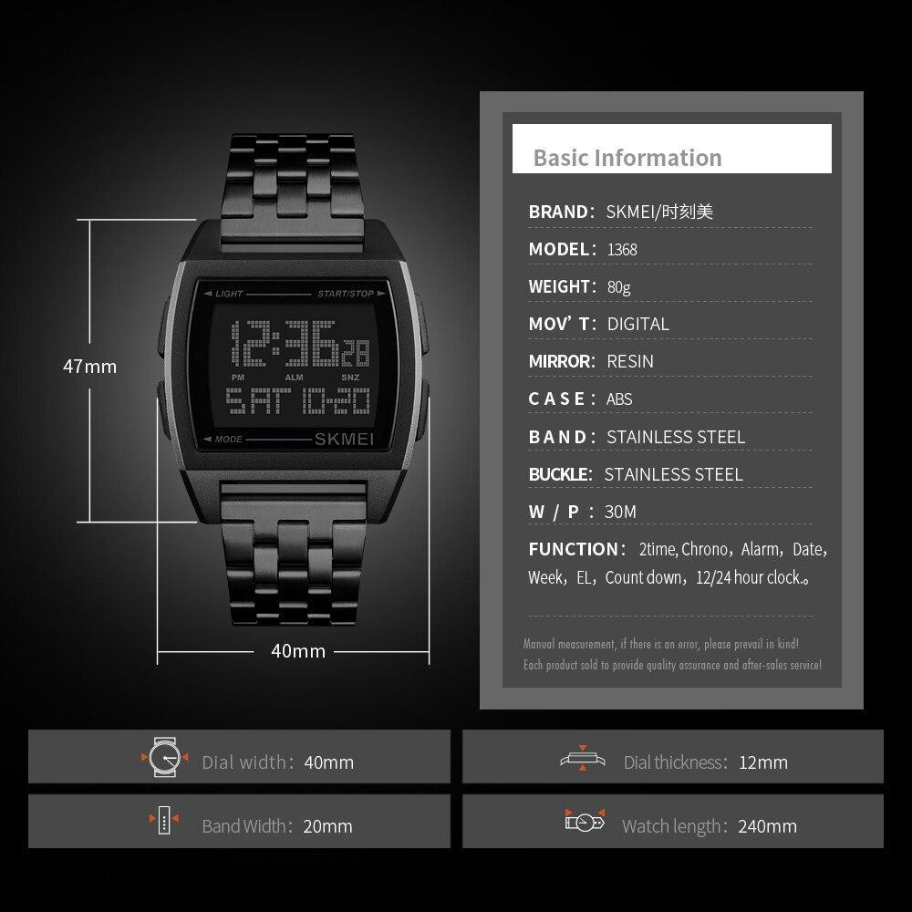 Skmei軍事スポーツ腕時計ledデジタル電子時計防水メンズ腕時計トップブランドの高級男性時計レロジオmasculino_画像5