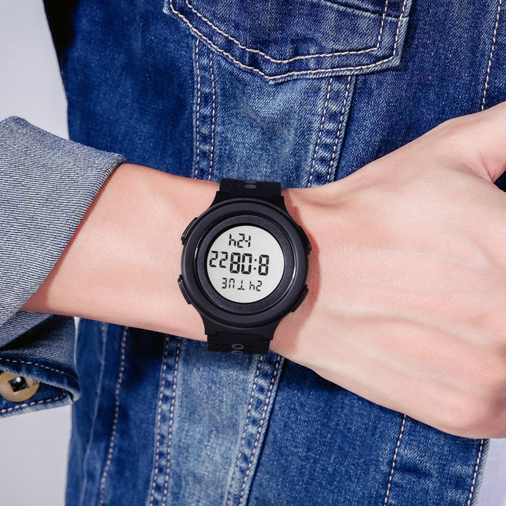 トップブランドのメンズ腕時計高級2時間ledライトカウントダウンデジタル腕時計クロノグラフ日付表示腕時計skmeiブランド時計_画像5