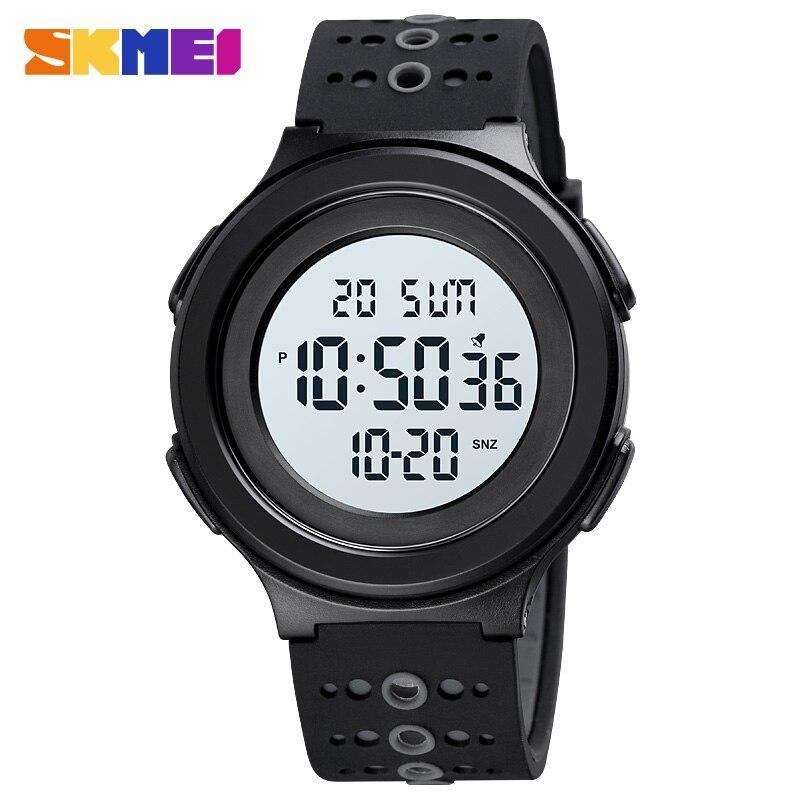 トップブランドのメンズ腕時計高級2時間ledライトカウントダウンデジタル腕時計クロノグラフ日付表示腕時計skmeiブランド時計_画像1