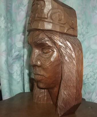 木彫り 男性アイヌ H-28_画像2