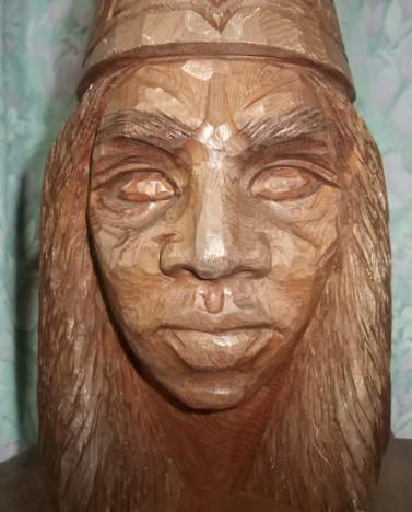 木彫り 男性アイヌ H-28_画像3