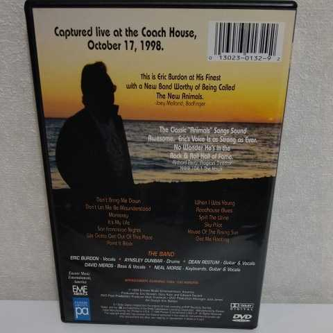 ERIC BURDON and The New ANIMALS/Live at the Coach House 輸入盤DVD エリック・バードン アニマルズ_画像2