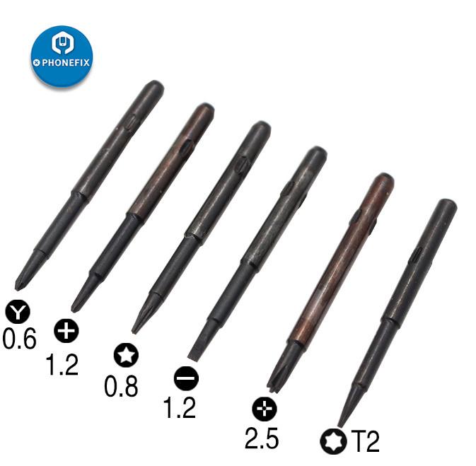 送料無料 6 in 1磁気スクリュードライバーセット オープニング修理iPhone 6 7 8プラスX XS 11Pro MAXドライバーマグネタイザー Z1616_画像2
