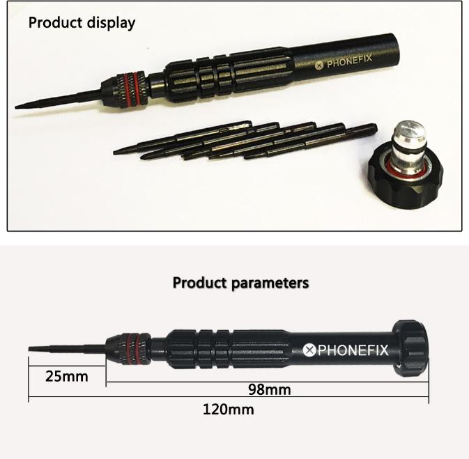 送料無料 6 in 1磁気スクリュードライバーセット オープニング修理iPhone 6 7 8プラスX XS 11Pro MAXドライバーマグネタイザー Z1616_画像5
