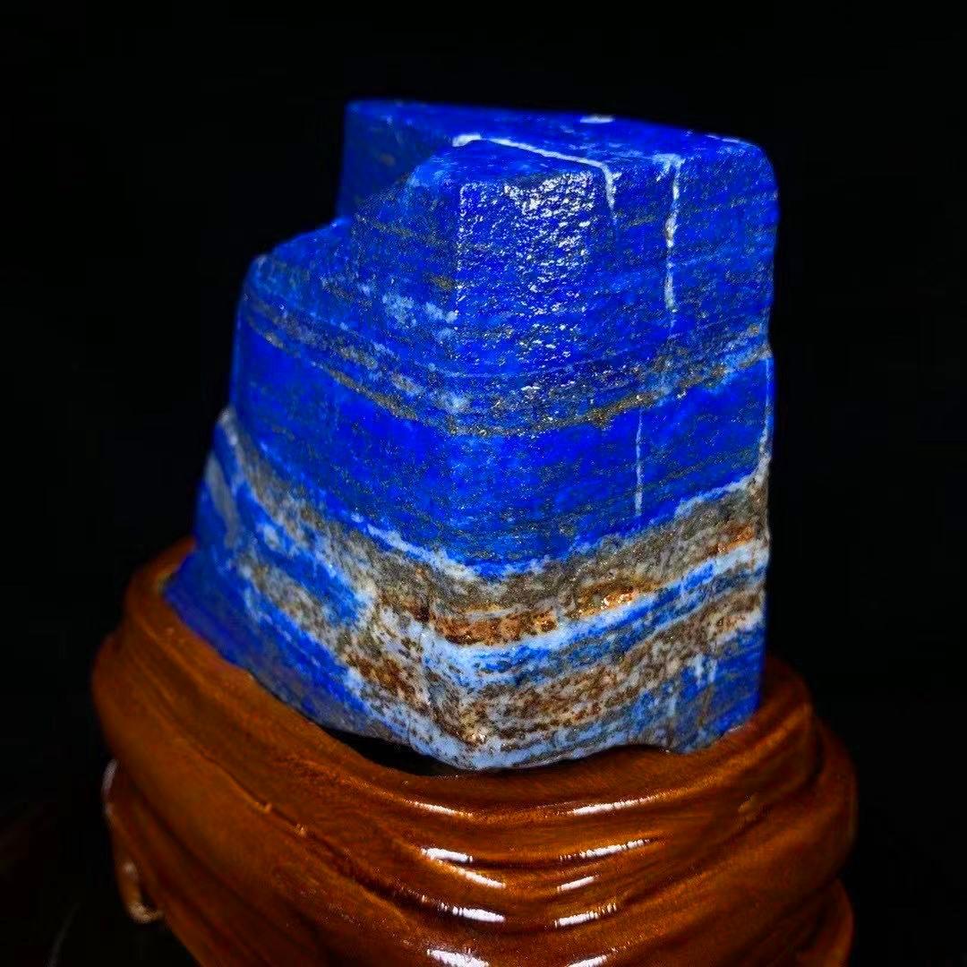 【限定品】◆AAA級天然ラピスラズリ原石0116-YS-180_画像2
