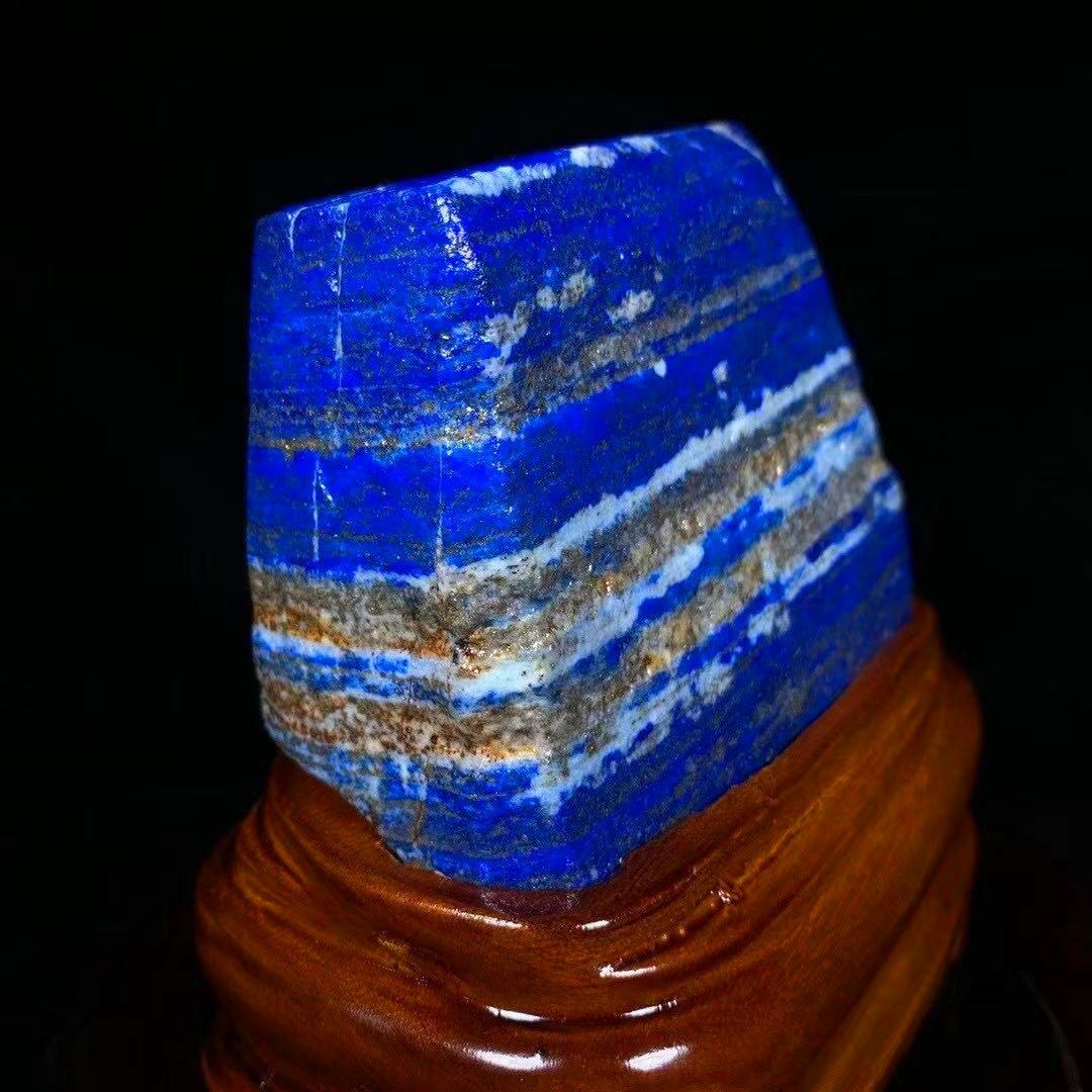 【限定品】◆AAA級天然ラピスラズリ原石0116-YS-180_画像3