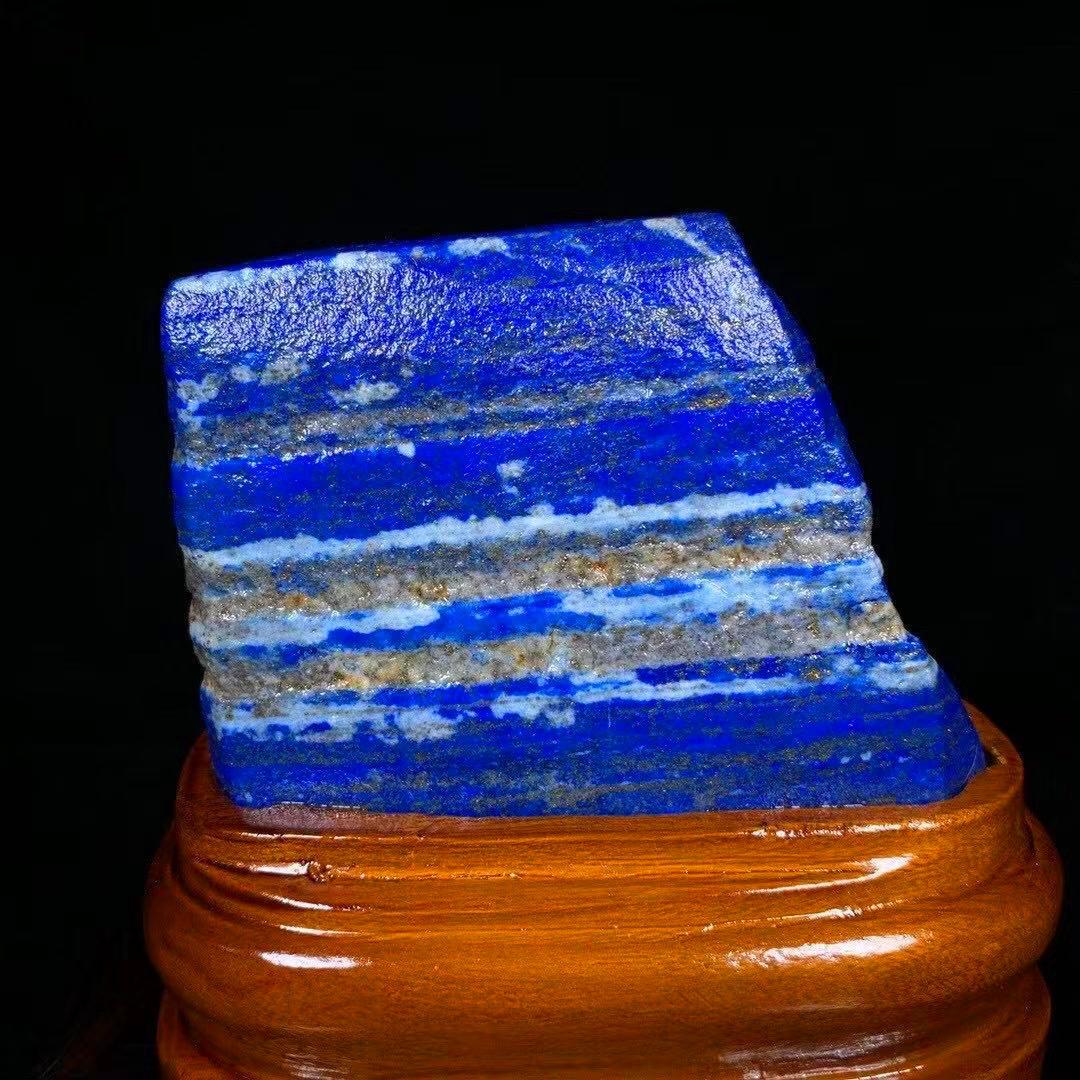 【限定品】◆AAA級天然ラピスラズリ原石0116-YS-180_画像4