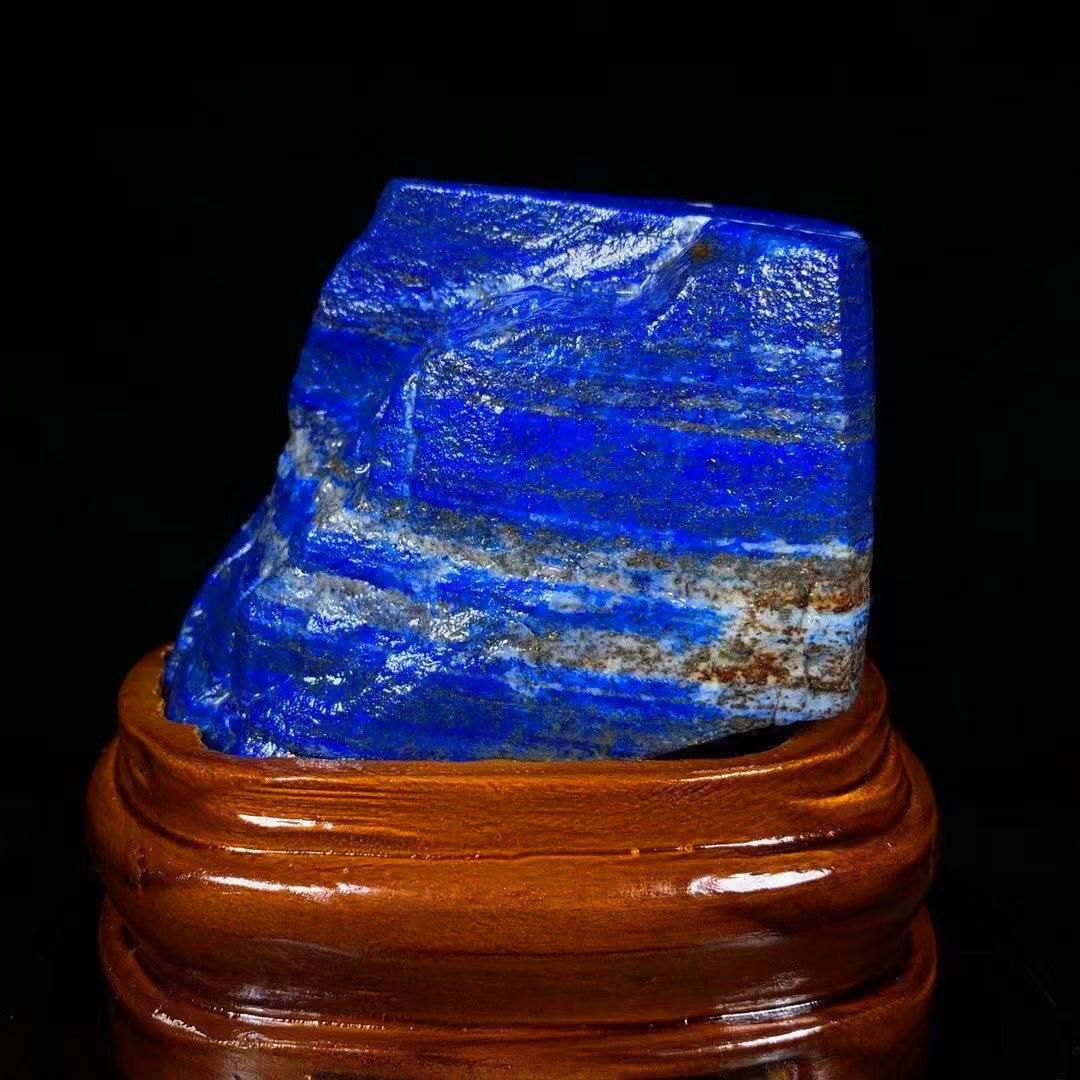 【限定品】◆AAA級天然ラピスラズリ原石0116-YS-180_画像1