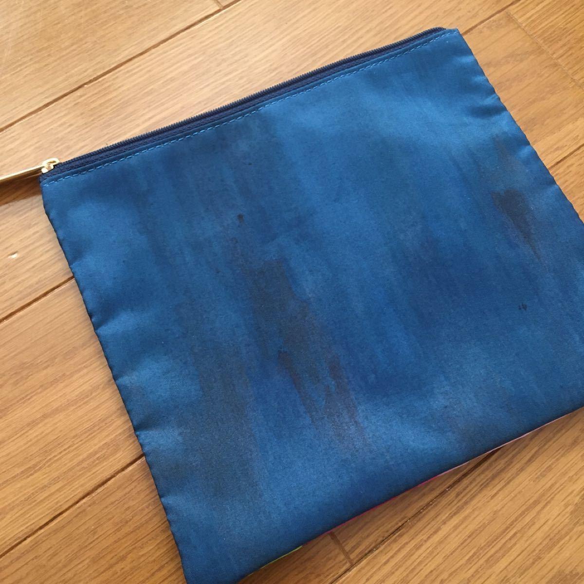 ポーチ バッグ ミニバッグ 化粧ポーチ 小物入れ シルク調 カラフル 輸入雑貨 バッグインバッグ 絵画 アート レディース 芸術