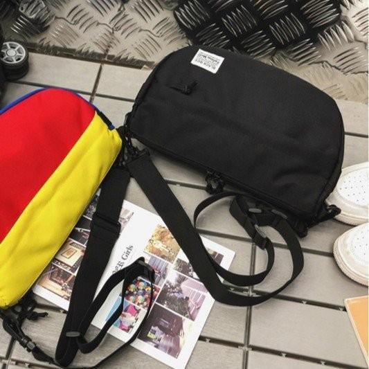 ボディーバッグ ショルダーバッグ ブラック 軽量 韓国系 カジュアル ストリート 旅行 通学