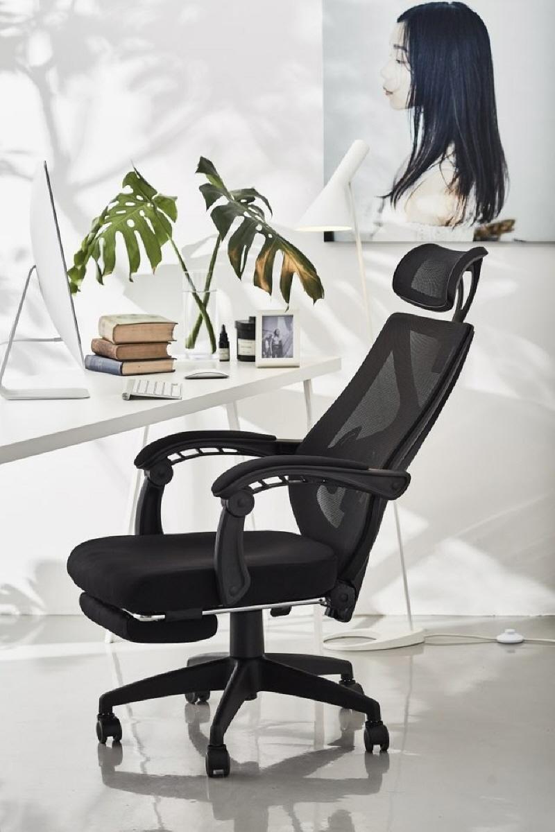 オフィスチェア 人間工学椅子 腰サポート ヘッドレスト アームレスト付き パソコンチェア デスクチェア ハイバック ロッキング メッシュ